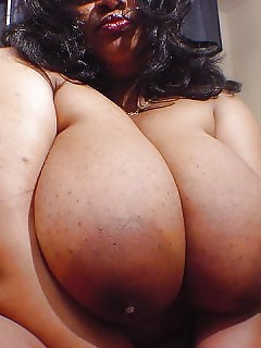 BBW Black Lady Big Ebony Breasts